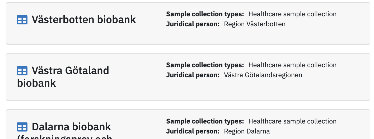 Sample Collection Database